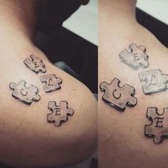 Puzzle tattoo black and white