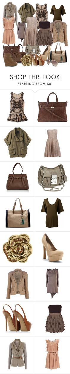 """""""Browns/Olives"""" by icebubbletea ❤ liked on Polyvore featuring Alexander McQueen, Lodis, Isabel Marant, French Connection, Salvatore Ferragamo, Miu Miu, Lanvin, Miso, Kelsi Dagger Brooklyn and Gucci"""