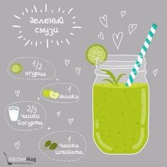 Top green smoothie recipes for weight loss and detox. Junk food is anything but healthy. Smoothie Prep, Green Smoothie Recipes, Clean Eating Snacks, Healthy Eating, Healthy Drinks, Healthy Recipes, Exotic Food, Weight Loss Smoothies, Food Illustrations