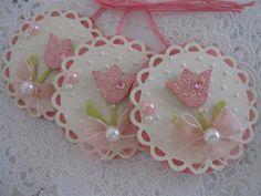 Glitter Tulip Tags.. Handmade by me.. TFL:)