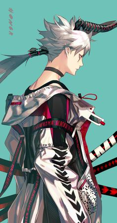The extra-ness is strong with this one. Fantasy Character Design, Character Design Inspiration, Character Concept, Character Art, Mascara Anime, Demon Manga, Anime Boy Zeichnung, Arte Cyberpunk, Samurai Art