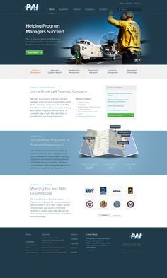 Home page redesign for www.pai-inc.com by Philip Lester