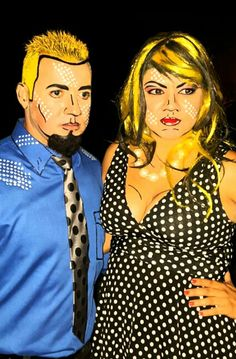 2015 couples costume - pop art