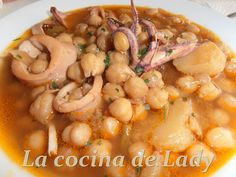 Legumbres on pinterest 34 pins - Calamares con garbanzos ...