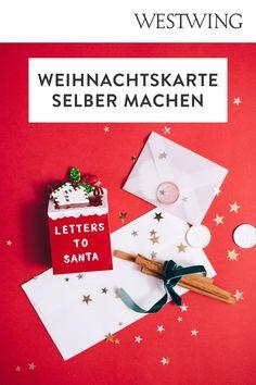 In der Vorweihnachtszeit gehört das Verpacken der Geschenke zu unserer absoluten Lieblingsbeschäftigung. Aber nicht nur das Kleben, Binden und Stempeln auf Geschenkpapier macht uns große Freude. Denn auch außergewöhnliche Weihnachtskarten basteln steht bei uns ganz oben auf der To-Do-Liste!/Westwing Weihnachtskarte selber basteln gestalten mit Kindern modern kreativ einfach Tannenbaum christmas card DIY xmas 2021 new year aquarell ideas design kids Weihnachten Advent Diy Xmas, Gift Wrapping, Gifts, Colored Paper, Present Wrapping, Stamping, Gift Wrapping Paper, Presents
