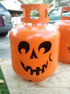 Items similar to Forever Pumpkin, Propane Tank Plasma-cut Pumpkin on Etsy Metal Art Projects, Welding Projects, Fall Halloween, Halloween Crafts, Halloween Stuff, Halloween Ideas, Propane Tank Art, Helium Tank, Pumpkin Template