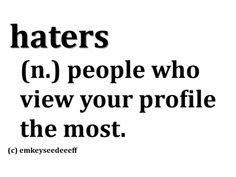 Profile. Blogger. Pinterest accts. twitter. Instagram. Stalkers.  (please stop following)