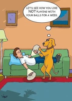 The curse of not being able to play with your balls!