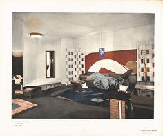 Eileen Gray, Une chambre à coucher boudoir pour Monte-Carlo exposée au Salon de la Société des artistes décorateurs, Paris, 1923  Courtesy archives Gilles Peyroulet, Paris - Dr