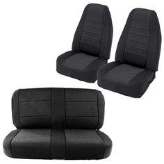 Smittybilt Black/Black Front + Rear Neoprene Seat Covers, Jeep TJ Wrangler 97-02 | eBay Motors, Parts & Accessories, Car & Truck Parts | eBay!