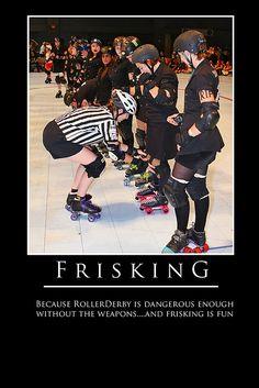 frisking #rollerderby