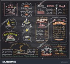 Blackboard Menu Restaurant Caf Menu La Conception De Modle