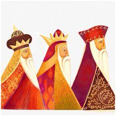 'Three kings' by Caroline Wilshire using sketches app.
