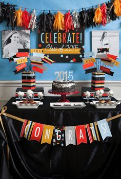 Graduation Party Free Printables 2015, just in time to celebrate this year's graduates!