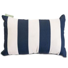 Majestic Home Goods 85907220622 Navy Blue Vertical Stripe Small Pillow 12x20