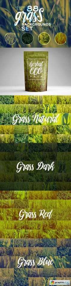 88 HD Grass Backgrounds Set  stock images