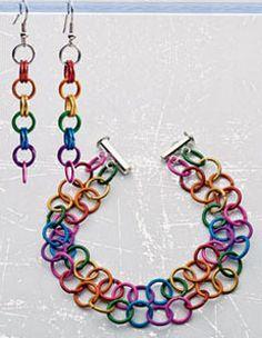 Spectra Bracelet & Earrings Set - Interweave