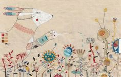 Annalisa Bollini mixes embroidery with painted details