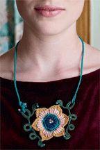 ArtNouveau bullion necklace