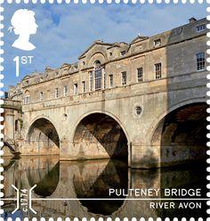 Bridges 1st Stamp (2015) Pulteney Bridge