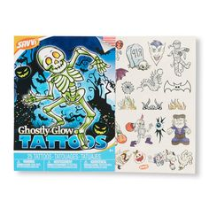 Kid's Ghostly Glow Tattoos | Check out our website for more spooky selections. We're the PLACE for Halloween fun!