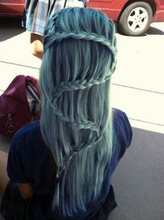 waterfall braid to the extreme. i hope you know if you ever do this in your hair and i see it, i will call your hair ugly.
