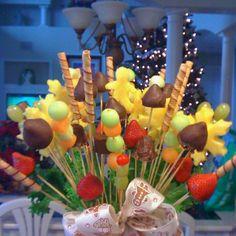 Homemade edible arrangement