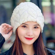 a8b2a58b0fdad Winter Lace Crochet Beanies Cap. Crochet BeanieKnit CapsBeaniesHats For  WomenCap ...