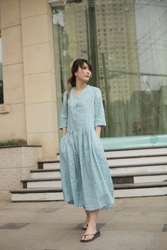 Blue Clear Skylight blue long sundressmore by FashionColours, $74.00