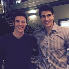Brandon Routh on Ray Palmer, Brandon Routh, The Flash Grant Gustin, Cw Dc, Dc Tv Shows, Cw Series, Le Male, Fastest Man, Supergirl And Flash