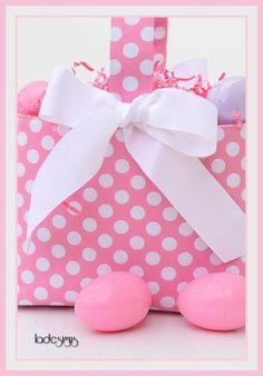 Easter+Basket+Boutique+Pink+Polka+Dot+by+ladesigns2+on+Etsy,+$25.00