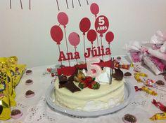 enfeite para o bolo - ana julia