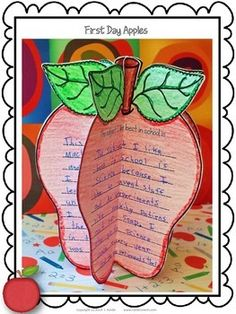 First Day Apples - A back-to-school craftivity for the upper grades to get your students engaged, and learn a little more about them, too.