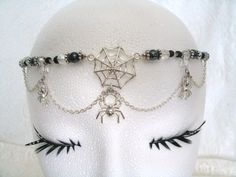 Spider Circlet, wiccan jewelry crown victorian goth gypsy witch pagan gothic magic mystic witchcraft metaphysical new age. $34.00, via Etsy.