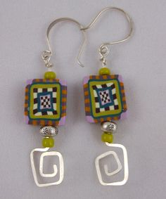 Spiral Polymer Clay Earrings