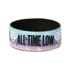 All Time Low Heart Logo Rubber Bracelet Hot Topic ($15) ❤ liked on Polyvore featuring jewelry and bracelets