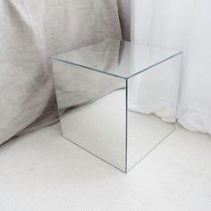 diy mirror cube using IKEA LOTS