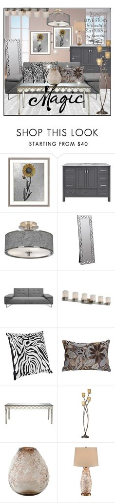 """""""lampsplus#19"""" by sabahetasaric ❤ liked on Polyvore featuring interior, interiors, interior design, home, home decor, interior decorating, Giclee Glow, Cooper Classics, Possini Euro Design and Universal Lighting and Decor"""