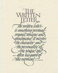 The Written Letter - John Stevens
