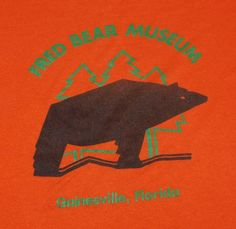 Vintage 1980s Fred Bear Museum T-shirt. Small stain on one sleeve