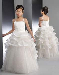 New Flower Girls Silver Dress Wedding Birthday Pageant Christmas Party 5715