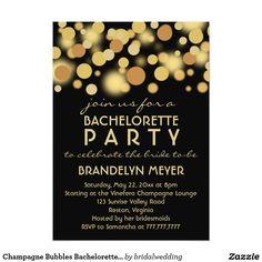 """Champagne Bubbles #BacheloretteParty #Invitations 5"""" X 7"""" Invitation Card"""