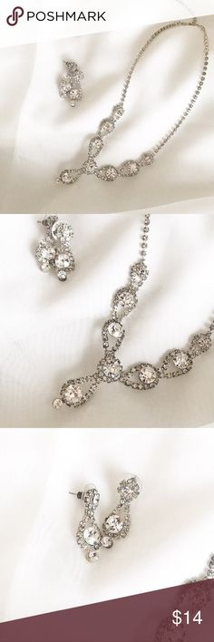 Elegance Silver Jewelry Sets Silver diamonds design use it once great style so elegant all in great condition  Accessories