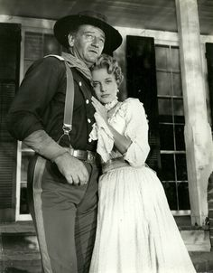 THE HORSE SOLDIERS (1958) - John Wayne and Constance Towers - Directed by John Ford - United Artists - Publicity Still.