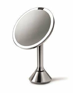 simplehuman Sensor Mirror - Sensor-Activated Lighted Makeup Mirror by simplehuman, http://www.amazon.com/dp/B00AZSNW3E/ref=cm_sw_r_pi_dp_gy-csb05CRB46