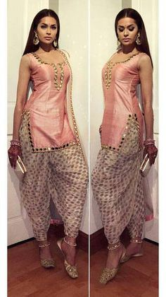 Classy Patiala Salwar Outfits- Patiala shalwar attire is generally linked with the subcontinent and Middle Eastern states since it is often considered as a traditional outfit in Pakistan, India, and Bangladesh. Punjabi Fashion, Indian Fashion Dresses, Indian Designer Outfits, Bollywood Fashion, Bollywood Suits, Designer Punjabi Suits, India Fashion, Patiala Dress, Punjabi Dress