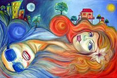 Really feeling this painting>>> Gemini Twins www.sisemoreart.com