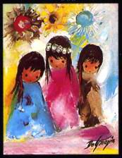 DeGrazia® - Little Queen and Her Maidens Crystal Tile. The creation of these beautiful tiles have been inspired by the art of DeGrazia®. There are two sizes of tiles available – 6″ x 8″ and 8″ x 10″.  $27.95