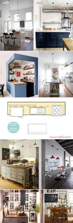 Cocinas pequeñas pero prácticas - Small but practical kitchens_con isla