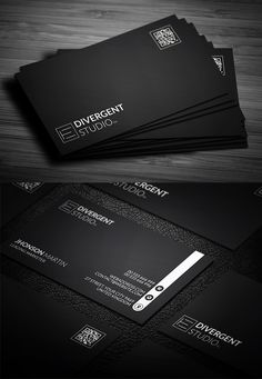 Business card design Templates are simple to use Business Card Design Templates. Business Cards Layout, Premium Business Cards, Professional Business Card Design, Black Business Card, Business Card Mock Up, Modern Business Cards, Business Design, Creative Business, Visiting Card Design Psd
